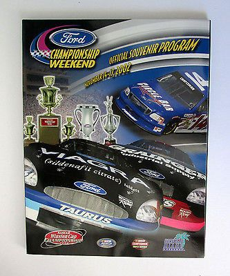 2002 Ford Championship Weekend Official Program Pack Nascar Homestead Miami Spee