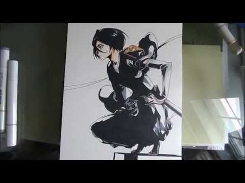 [Bleach] How to draw Rukia / Comment déssiner Rukia - YouTube