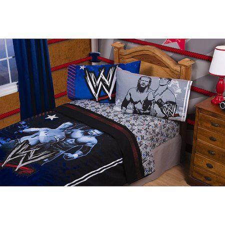 WWE Wrestler's Printed Sheet Set, Black