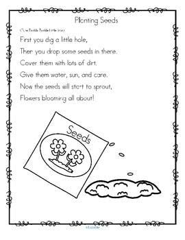 Planting Seeds Song and Sequencing Cards Activity FREE
