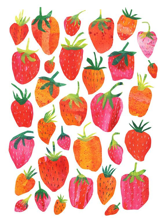 Strawberry Print Digital Print on Epson Arcival Matte Paper 189gsm, Print size 29cmx39cm Printed on an Epson Stylus Photo Printer with Pigment Inks. Fits standard Frame. 40cmx50cm All my images are copyright Tracey English Sent flat unless requested otherwise.