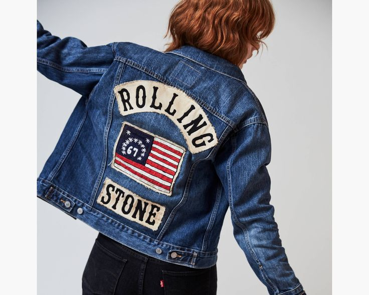 The Levi's® x Rolling Stone Collection celebrates the past 50 years of music and style — from two iconic brands that have been at the center of it all. Our Trucker jackets have been icons since 1967, and will always represent rugged American cool. This one is featured in our Ex-Boyfriend fit — stolen from him, re-imagined for you. New this season, it's bigger, longer and looser than our traditional Boyfriend fit, and designed with an extra-relaxed silhouette and elongated hem to creat...