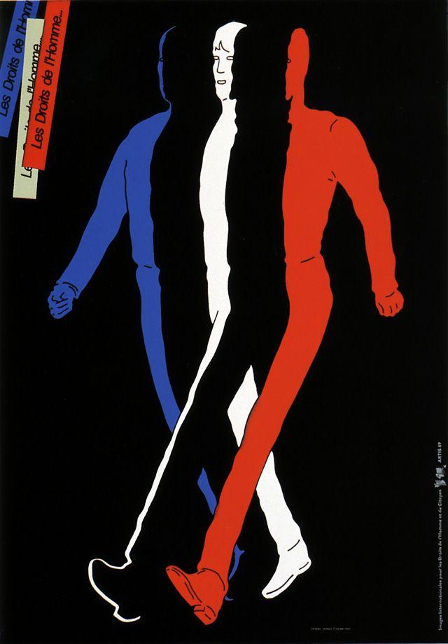 human rights poster by Shigeo Fukuda (1989)