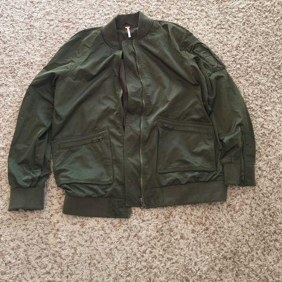 Free people military bomber jacket Free people military bomber jacket. New never worn. Free People Jackets & Coats