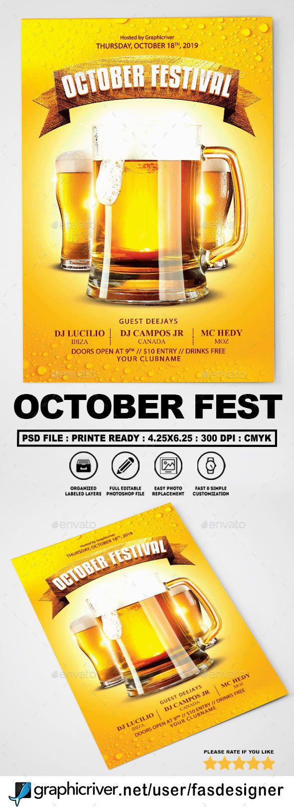 october festival flyer - Halloween Decoration Stores Near Me