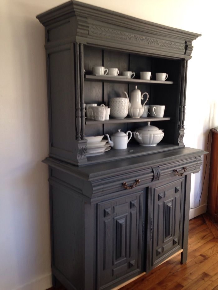 diy relooker un buffet henri ii belle meubles et gris. Black Bedroom Furniture Sets. Home Design Ideas