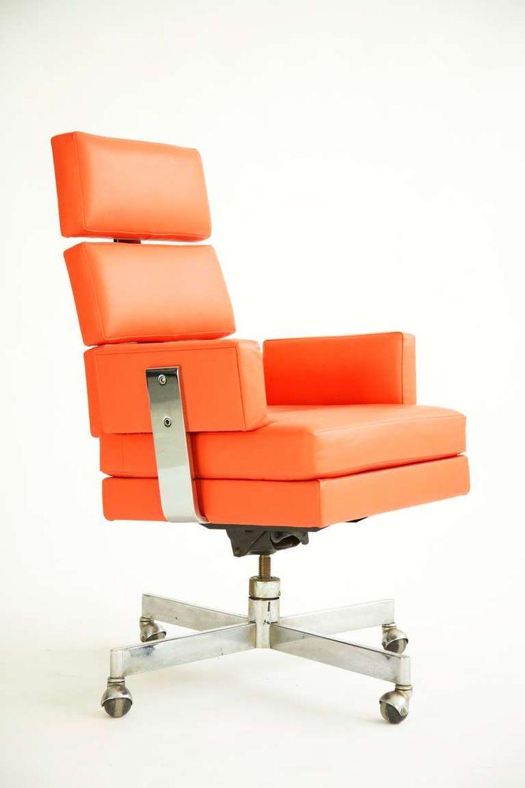 Milo Baughman Desk Chair. For Metropolitan. c.1967 USA