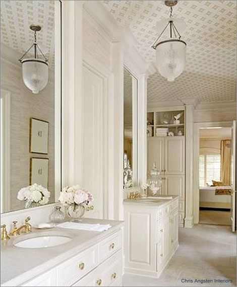 Wallpaper the ceiling Add to White Decorating the Home