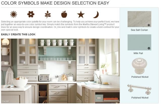 Martha stewart makes kitchen design easy with her color for Kitchen color planner