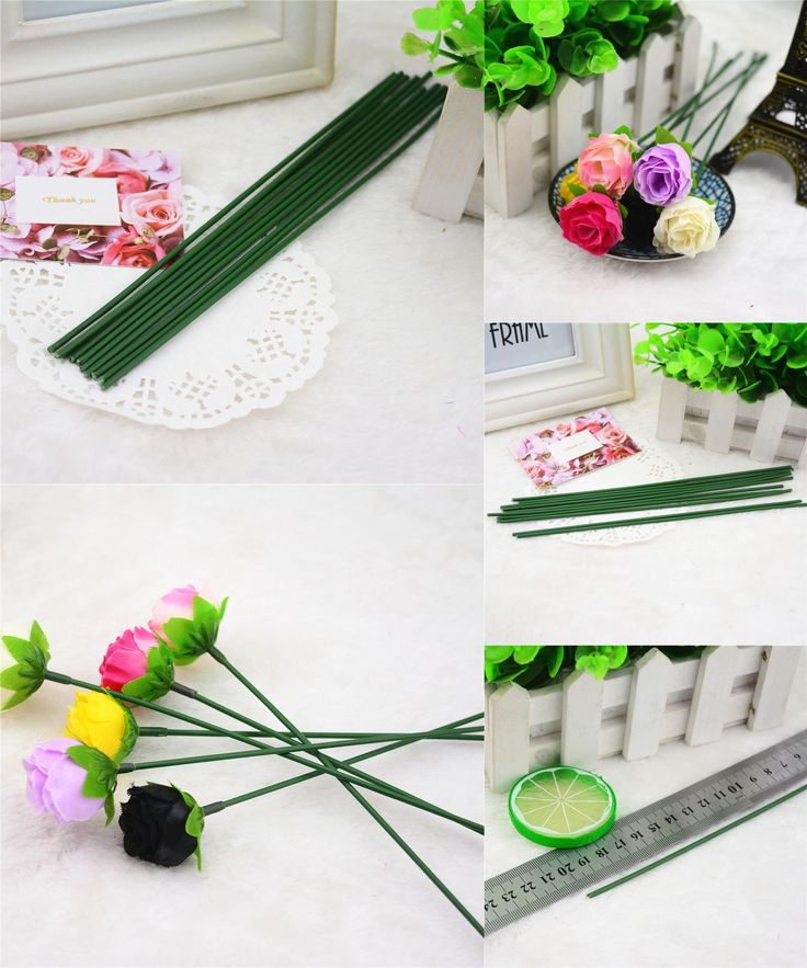 [Visit to Buy] 20pcs Iron Wire Garland Branches Fitting DIY Wreath Supplies Artificial Flower For Wedding Home Decoration Mariage Flores Plants #Advertisement