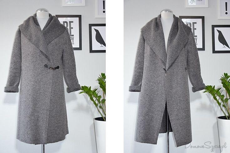 płaszcz, płaszcz bez podszewki, wełniany płaszcz, płaszcz z wełny, jak uszyć płaszcz, wełna parzona, wełna, szycie, szycie ubrań, blog o szyciu