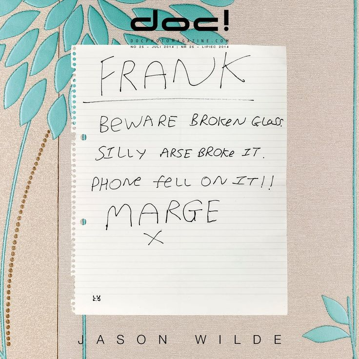 doc! photo magazine presents: Jason Wilde - SILLY ARSE BROKE IT @ doc! #25 (pp. 113-131)