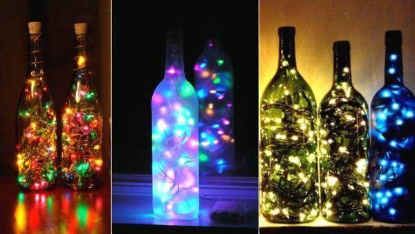 Светильники, люстры и лампы из бутылок своими руками - идеи и описание