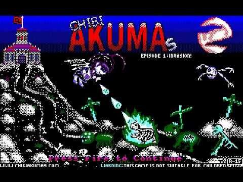 A preview video of the gameplay of Chibi Akumas! #chibiakumas #chibi #akuma #retrogames #retrogaming #gothic #amstradcpc #8bit #チビ #ちび #悪魔