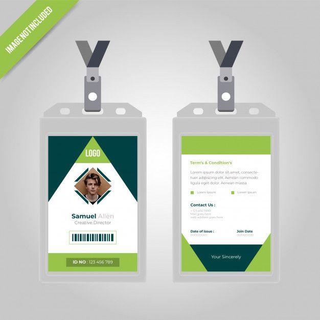 Green Id Card Design Desain