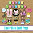 Printable Happy Easter Photo Booth Props and Decorations