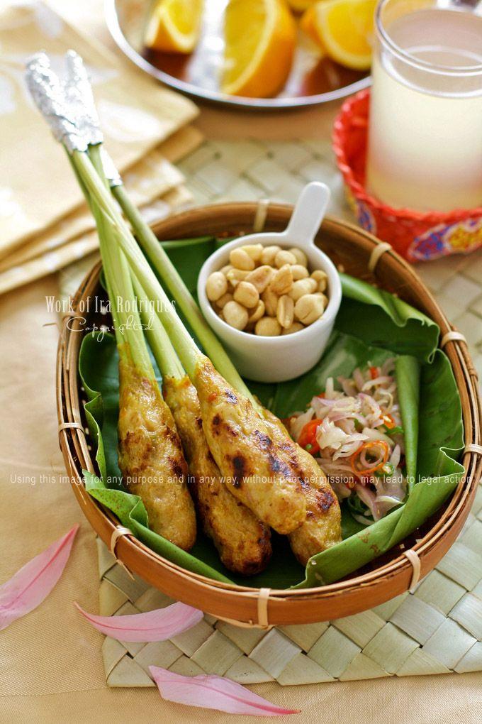 Balinese fish satay (Sate Lilit bali)