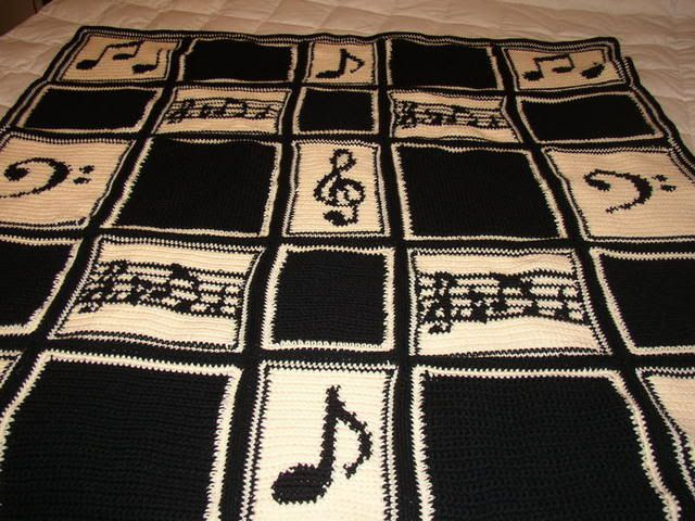 Crochet Pattern For Piano Afghan : music afghan For Gail Pinterest