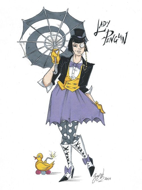 Genderswapped Batman Villain Designs http://geekxgirls.com/article.php?ID=1746