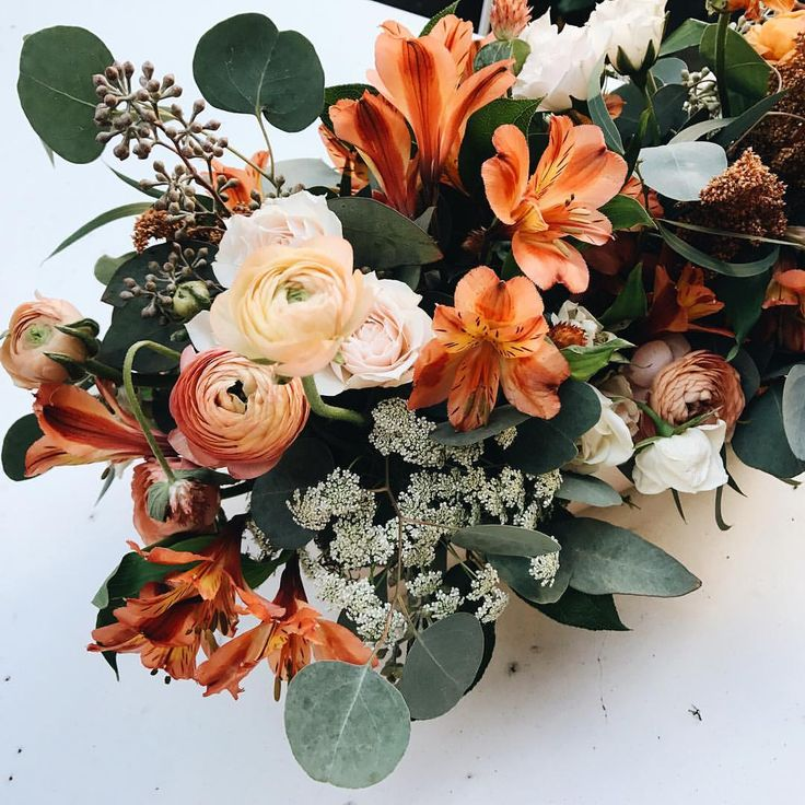 Pretty fall flower arrangement