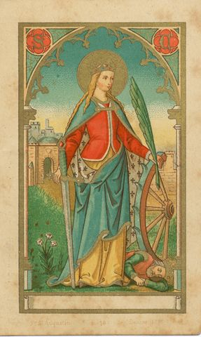"""If you are ruled by the mind you are king, if by the body you are a slave."" St. Catherine of Alexandria 290-305 Patron of: Philosophers, Librarians, Mechanics, Millers, Nurses, Potters, Scholars, ..."