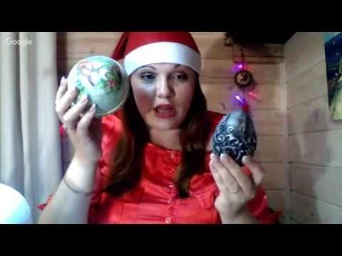 Наталья Каримова. Большие Новогодние Шары! Университет декупажа. Новогодний переполох.