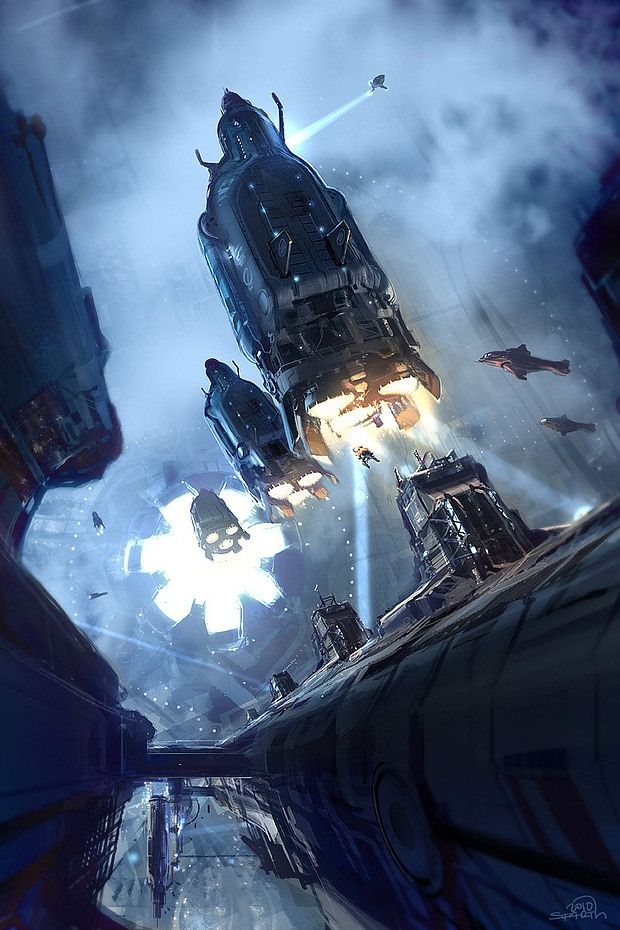 40 best science fiction iconography images on pinterest for Space matte painting
