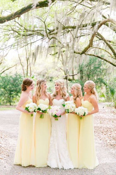 Pale Yellow Bridesmaid Dresses | Brookland Pointe Edisto Island Charleston Wedding by Charleston wedding photographer Dana Cubbage