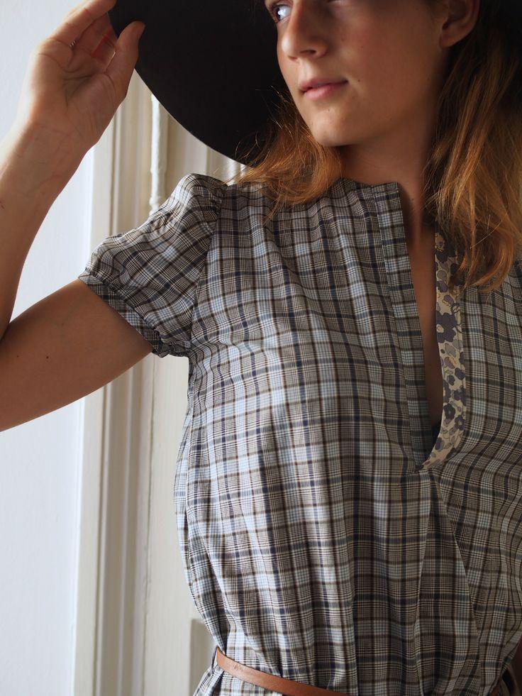 NEW ORLEANS sewing pattern - C'est dimanche patrons - cousu par Célestine et Cie (rallongée en robe)