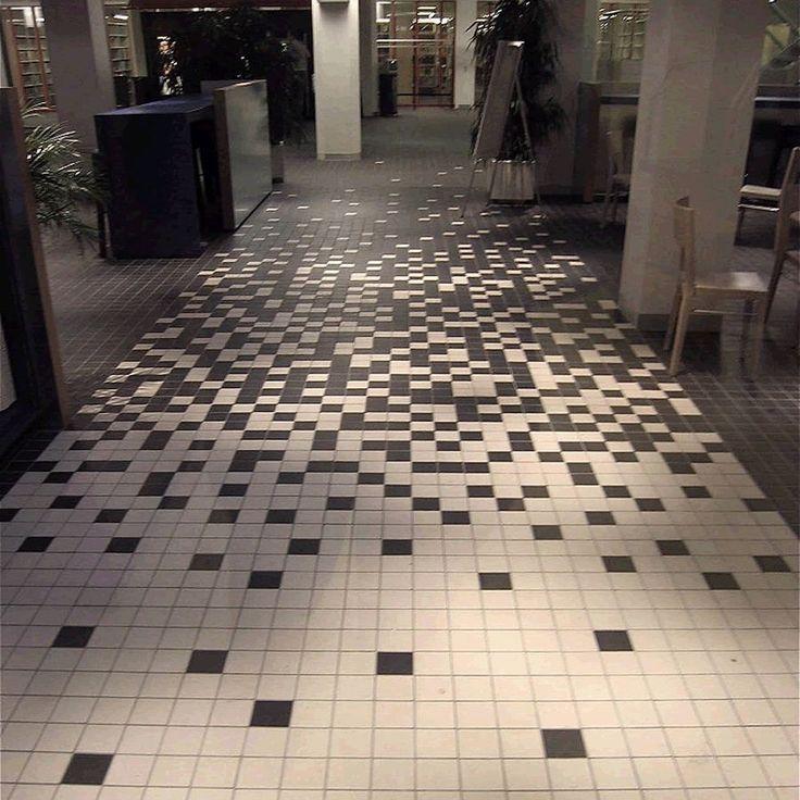 strooi effect winckelmans-tegels: rustig in de keuken en strooi in de gang