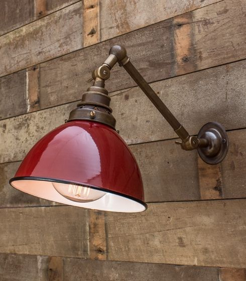 Old Brass Double Adjustable Shaded Wall Light