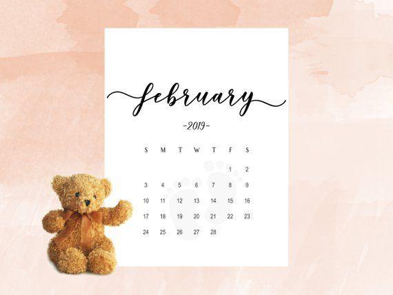 Social Media Calendar Plan For February 2019 Pregnancy announcement calendar February 2019, Social Media