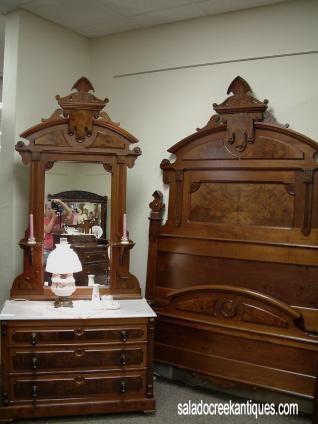 Salado Creek Antiques - Victorian Walnut Bedroom Set