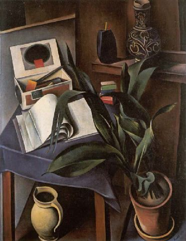 "Alexander Kanoldt, Still Life II 1922. In painting, magical realism is a term often interchanged with post-expressionism, as Ríos also shows, for the very title of Roh's 1925 essay was ""Magical Realism:Post-Expressionism""."