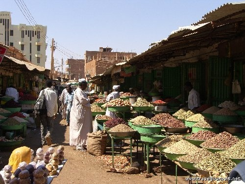 Khartoum, Sudan - fun shopping in the souq (market)! This is the kind of place Halimah likes to shop at.