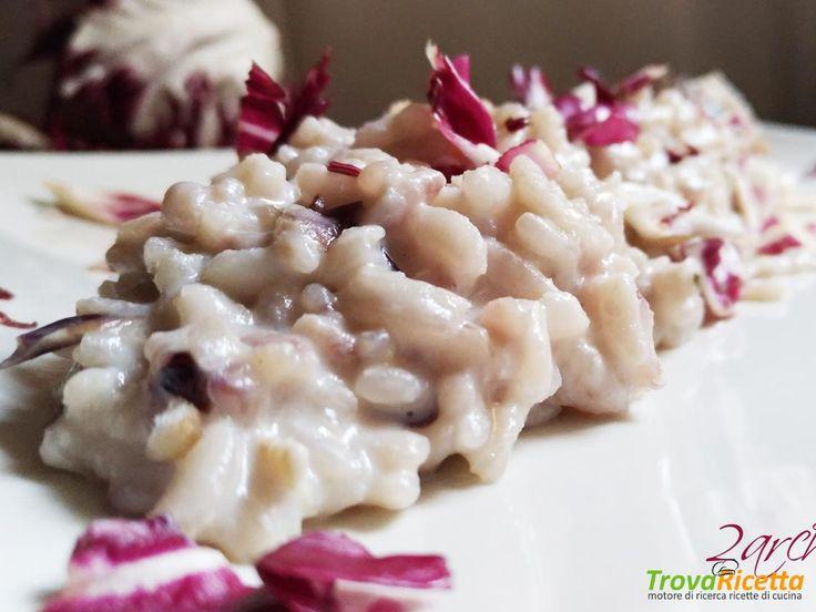 Risotto con radicchio e lardo di Arnad  #ricette #food #recipes