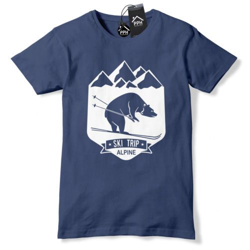 Bear ski trip skiing t shirt mens womens ski #layer #snowboard #tshirt skiing 498,  View more on the LINK: http://www.zeppy.io/product/gb/2/252712334406/