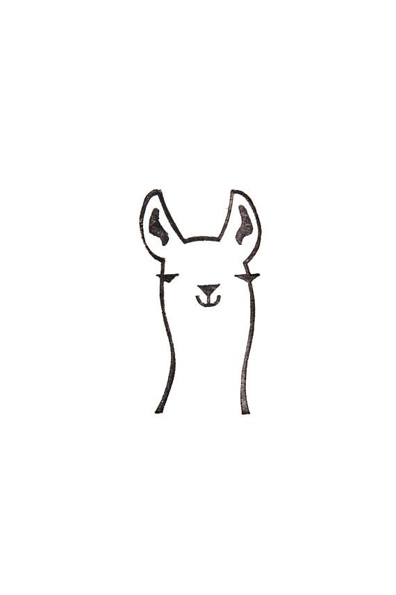 Llama stamp, llama gift, Peru animal, Lama glama, peekaboo stamp, rubber stamp, stamp for diy, llama kids gift, funny stationery