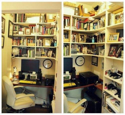 closet office collage: Crafts Closet, Big Closet, Small Offices, Offices Idea, Small Spaces, Spaces Savers, Closet Offices Collage, Corner Spaces, Creative Offices Spaces