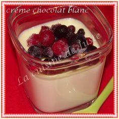 Crème au chocolat blanc - La cuisine de Juste