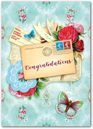 Congrats Wallpaper Postcard