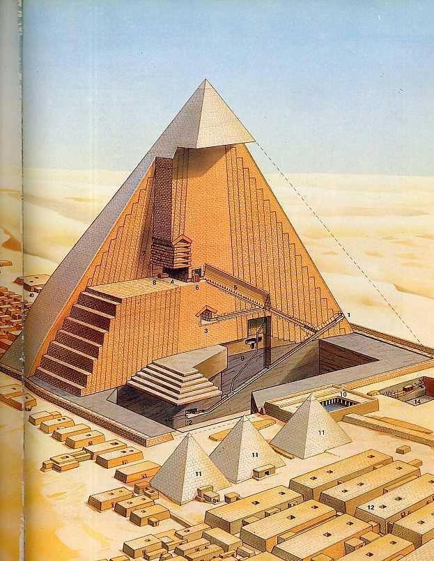 Egypt. Pyramid interior map