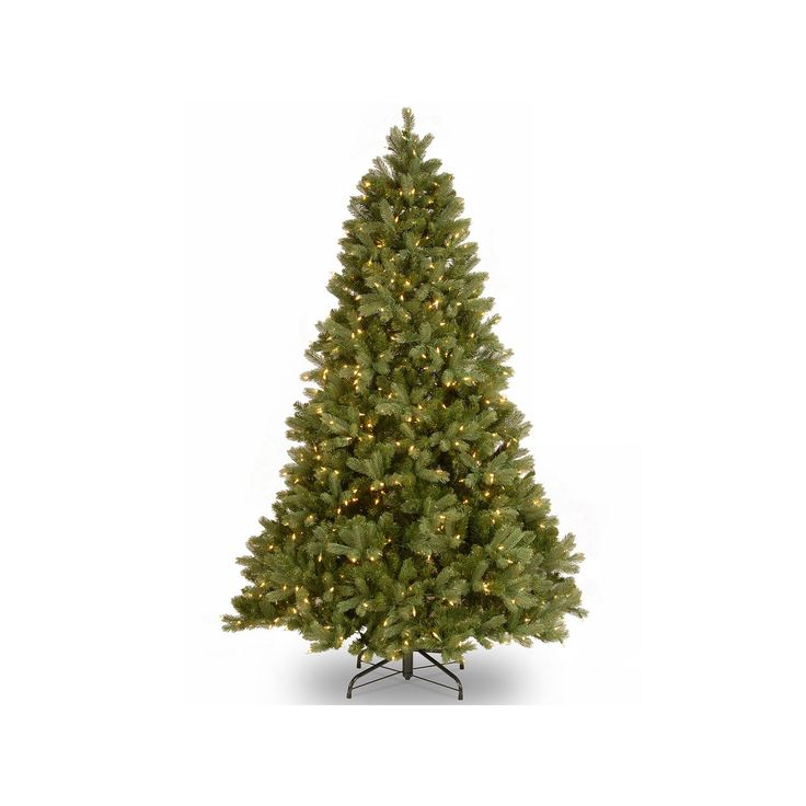 National Tree Company 7.5-ft. Douglas Fir Hinged Dual Color Pre-Lit Artificial Christmas Tree, Green