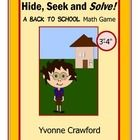 Back to School - Hide, Seek and Solve Math Game (3rd and 4th grade)