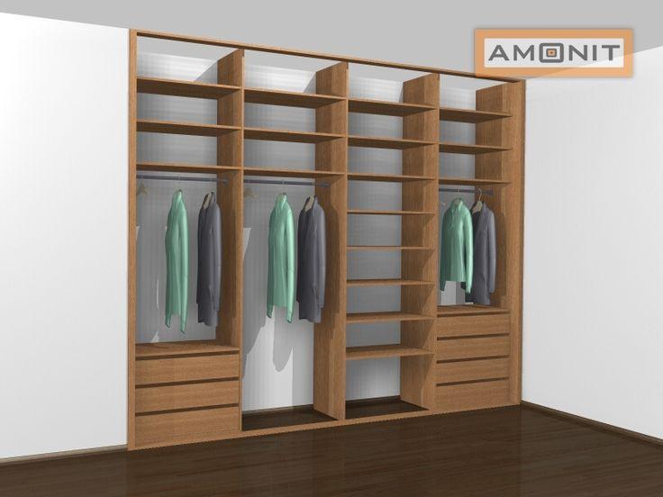 Ukázka vnitřního uspořádání vestavěné skříně - 26. varianta
