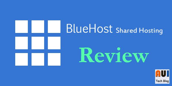 Bluehost shared hosting review.
