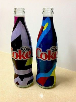 2-Coke-Cola-Diet-Extraordinary-Collection-Glass-Bottle-Israel-Special-Edition