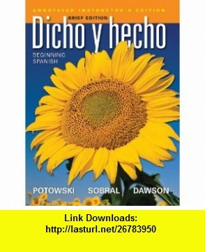 8 best e book torrents images on pinterest before i die behavior dicho y hecho beginning spanish spanish edition 9780470922262 laila m dawson fandeluxe Gallery