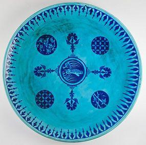 Minton Aesthetic Movement wall plate. Chr. Dresser