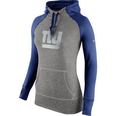 Women's New York Giants Nike Charcoal Platinum All Time Performance Hoodie